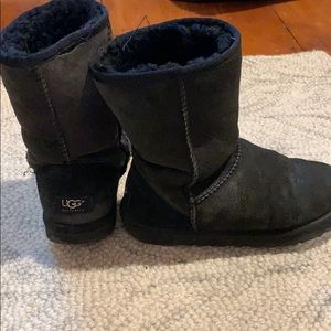 Women's Black Ugg Boots Size 7